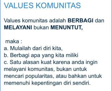 value komunitas IIP